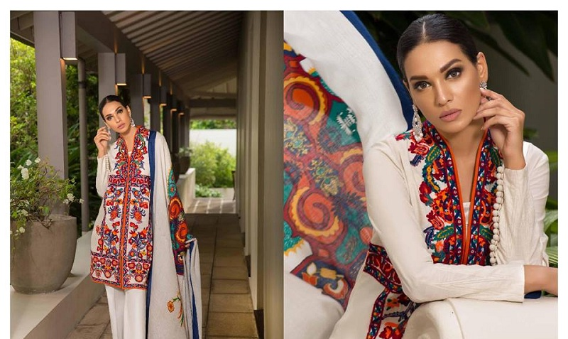 6439b8622c New Arrival Sana Safinaz Winter Shawl New Dresses 2018-19 | Stylostreet