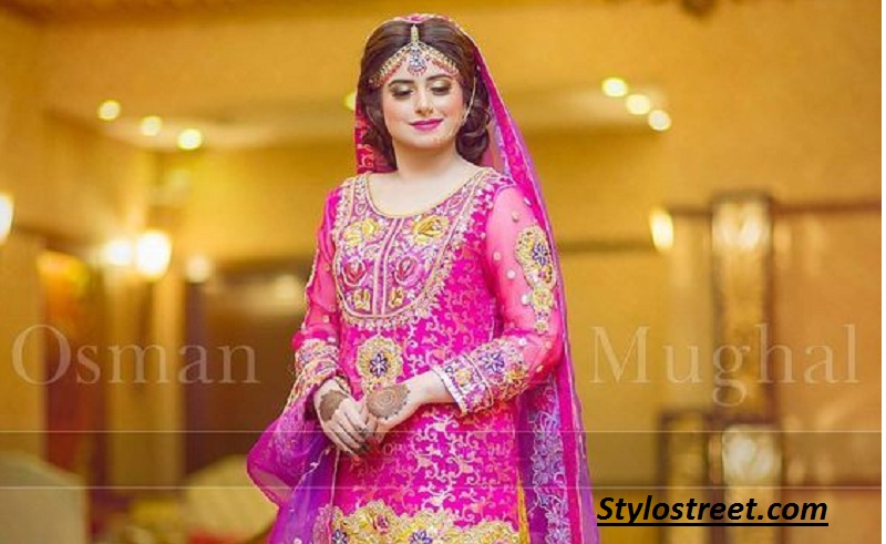 Latest Asian Bridal Mehndi Dresses 2019 Collection With