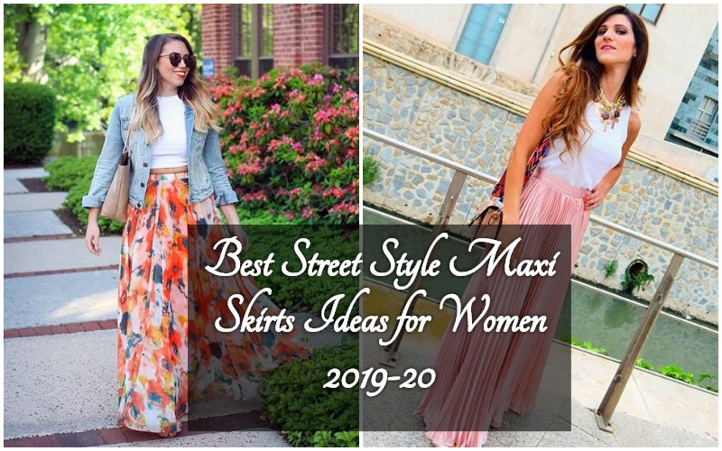 43388a9cadf Top 15 Street Style ideas to Wear Maxi Skirts for Women