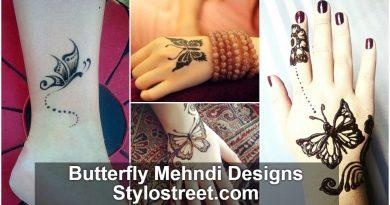 100+ Butterfly Mehndi Designs