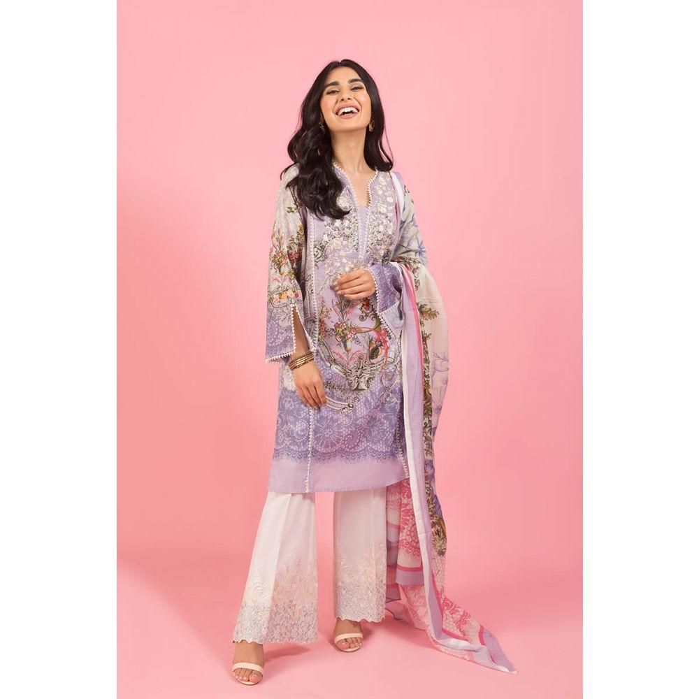 Gul Ahmed Light Blue Embroidery Dress