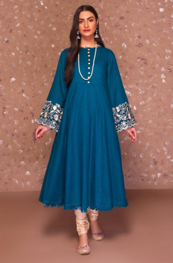 Navy Blue Dress Design