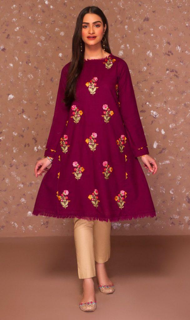 Mausummery Winter Collection 2020-21 Purple Dress