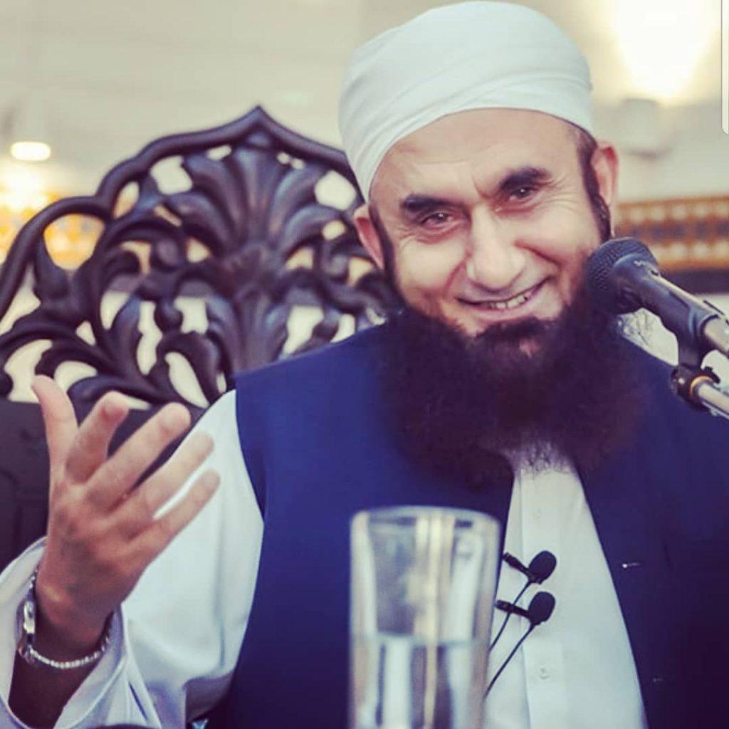 Maulana Tariq Jameel in Happy mood